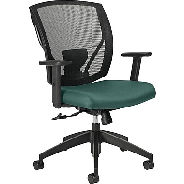 Offices To Go® IBEX-F Mid-Back Mesh Tilter with Fabric Seat, Teal