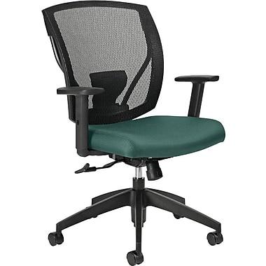 Offices To GoMD – Chaise IBEX-F à dossier inclinable mi-hauteur à filet, siège en tissu, bleu sarcelle