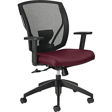 Offices To Go® IBEX-F Mid-Back Mesh Tilter with Fabric Seat, Vermillion