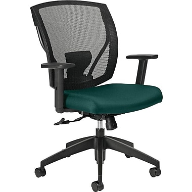 Offices To Go® IBEX-F Mid-Back Mesh Tilter with Fabric Seat, Spruce