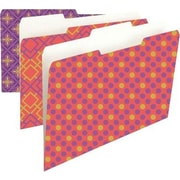 Smead Fashion Collection File Folders, 1/3-Cut Tab, Letter size, Bacall, 6 per Pack