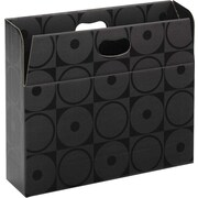 Smead MO File Case, Holds up to 350 Sheets, Full-Height Sides, Letter Size, Black Circles