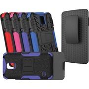 URGE Basics Armor Clip Case for Samsung Galaxy S5, Black Purple