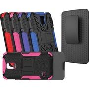 URGE Basics Armor Clip Case for Samsung Galaxy S5, Black Pink