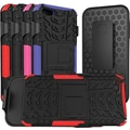 URGE Basics Armor Clip Case for iPhone 5, Black Red