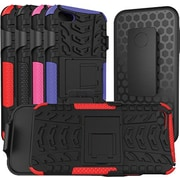 URGE Basics Armor Clip Case for iPhone 5, Black Red
