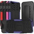 URGE Basics Armor Clip Case for iPhone 5, Black Purple