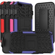 URGE Basics Armor Clip Case for iPhone 5, Black Purple