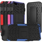 URGE Basics Armor Clip Case for iPhone 5, Black Blue