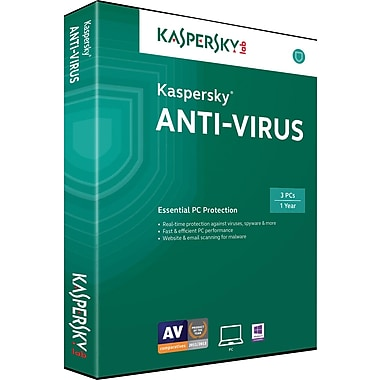 Kaspersky Anti-Virus for Windows (1-3 Users)[Boxed]