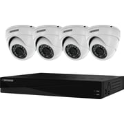 Sentinel™ Widescreen 8CH Security DVR with 2TB HDD and 4 Surveillance 800TVL Cameras with 75ft Night Vision