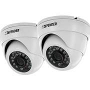 Defender 2 Pack 800TVL Widescreen Indoor/Outdoor Dome Security Cameras