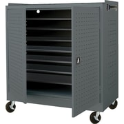 Mobile Laptop Security Cabinet, 46W Gray