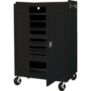 Mobile Laptop Security Cabinet, 36W Black