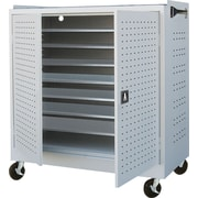 Mobile Laptop Security Cabinet, 36W Light Gray