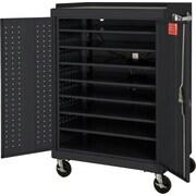 Mobile Laptop Security Cabinet, 52W Dark Gray
