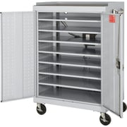 Mobile Laptop Security Cabinet, Light Gray