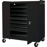 Mobile Laptop Security Cabinet, 46W Black