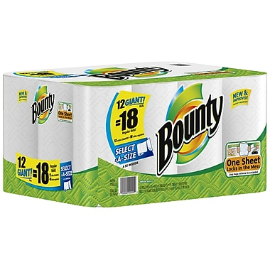 Bounty Select-A-Size Giant Roll Paper Towels, 2-Ply, 12 Rolls/Case