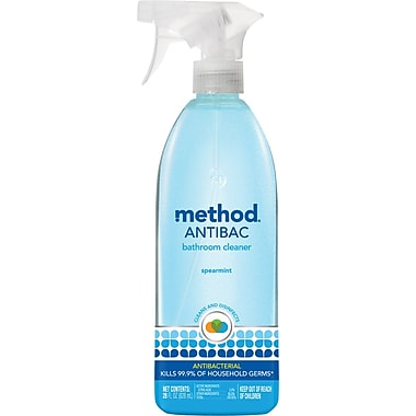 Method  Antibacterial Cleaner, Spearmint, Blue, 28 oz. Spray Bottle