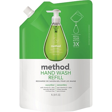 Method Gel Handwash Refill, Cucumber, 34 oz.