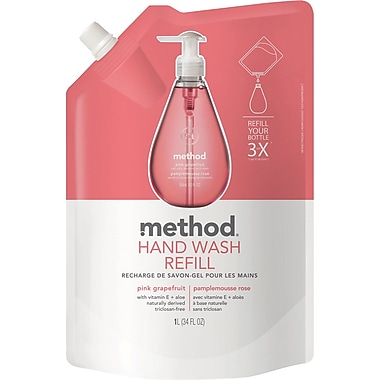 Method Gel Handwash Refill, Pink Grapefruit, 34 oz.
