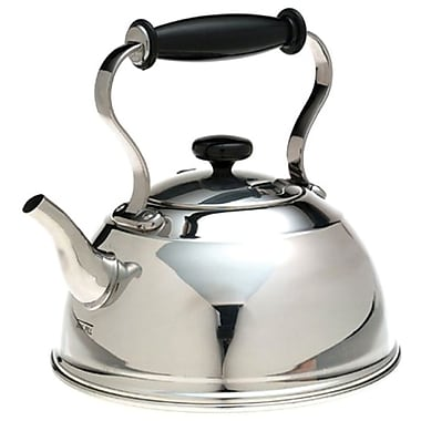 Cambridge Polished Stainless Steel Kettle, 1.5QT