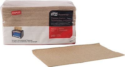 Staples Tork Xpressnap Napkin 1 ply Natural 200 pack