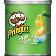 Pringles® Sour Cream & Onion Potato Chips, 1.41 oz cans, 36 Cans/Box