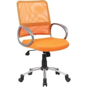 Boss Mesh Back W/ Pewter Finish Orange Task Chair