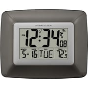 WS-8008U Atomic Digital Wall Clock with Temperature