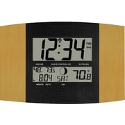 La Crosse Technology WS-8147U-IT Atomic Digital Wall Clock with Temp & Moon phase