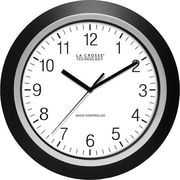 La Crosse Technology 404-1236 13.5 Inch Analog Atomic Black frame clock