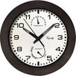 Equity by La Crosse 29005 10 Inch Outdoor Thermometer & Humidity Wall Clock - Brown