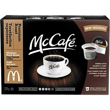 McCafe Premium Roast Single Serve Coffee, Medium-Dark Roast, 12/Pack