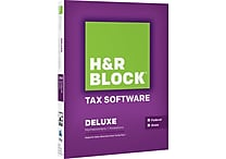 H&R Block Tax Software 14 Deluxe + State [Boxed]