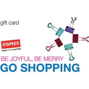 Staples® Holiday Shopping Gift Card, $75