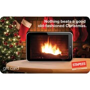 Staples® Holiday Fire Gift Card, $25