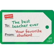 Staples® Holiday Teacher Tag Gift Card, $100