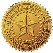 Great Papers® Star Gold Certificate Seal, 96/Pack
