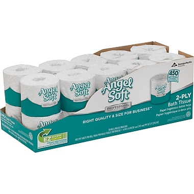 Angel Soft Professional Series™ 2-Ply Premium Embossed Bathroom Tissue, Convenient Size, 20 Rolls/Case