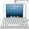 ZAGGkeys Apple iPad Mini Folio, White with White Backlit Keyboard