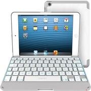 ZAGGkeys Apple iPad Mini Folio, White with White Backlit Keyboard