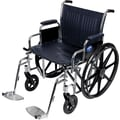 Medline Excel Extra-wide Wheelchair, 22in. W x 18in. D Seat, Removable Desk Length Arm, Swing Away Leg