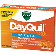 Vicks® Dayquil™ LiquiCaps Cold & Flu; Multi-Symptom Relief