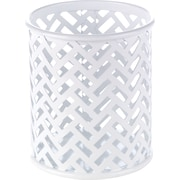 Staples® White Zigzag Pencil Cup (26847)