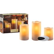 Flameless Candles with Remote and Time, 3/Pack