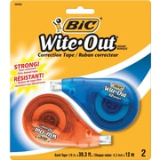 BIC® Wite-Out® Brand EZ Correct™ Correction Tape, 2/Pack