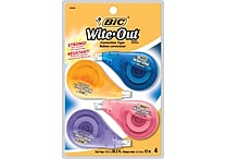 BIC® Wite-Out® Brand EZ Correct™ Correction Tape, 4/Pack