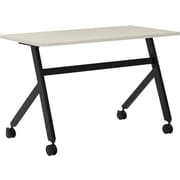 "basyx by HON Multi-Purpose Table, Fixed Base, 48""W x 24""D, Light Gray Laminate, Black Finish"
